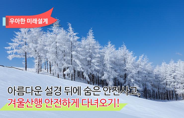 아름다운 설경 뒤에 숨은 안전사고, 겨울산행 안전하게 다녀오기! 아름다운 설경 뒤에 숨은 안전사고, 겨울산행 안전하게 다녀오기!  겨울산행-썸네일